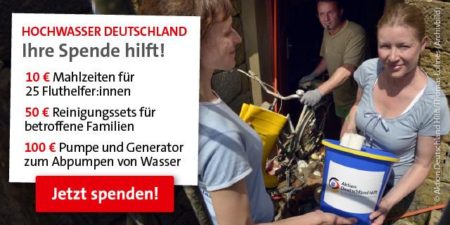 Hochwasser Deutschland: So hilft Ihre Spende
