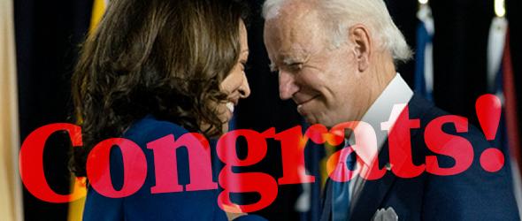 US-Wahl 2020: Kamala Harris gratuliert dem Präsidentschaftskandidaten Joe Biden