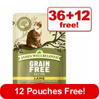 85g James Wellbeloved Cat Pouches - 36 + 12 Free!* >>