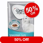 12 x 85g Concept for Life Wet Cat Food – 50% Off!* >>