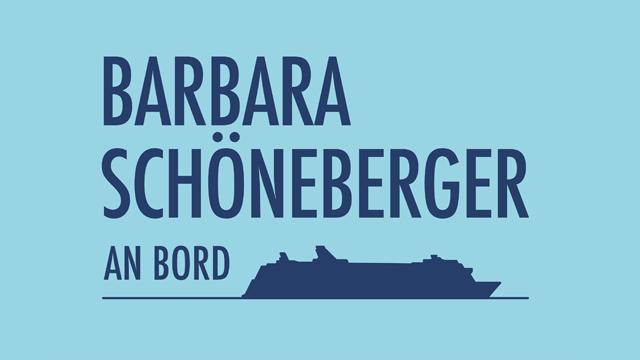 Barbara Schöneberger an Bord