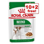 """<span style=""""font-size:14px;"""">85g Royal Canin Adult Mini Wet Dog Food - 10 + 2 Free!*</span> >>"""