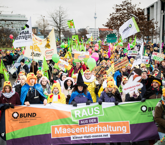 Wir-haben-es-satt Demo 2018, Foto: Jörg Farys