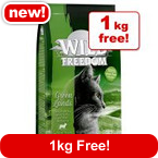 3kg Wild Freedom Adult Dry Cat Food + 1kg Free!* >>