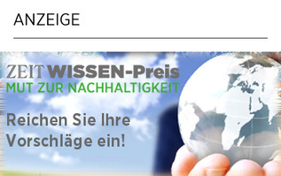 ZEIT WISSEN-Preis - Mut zur Nachhaltigkeit