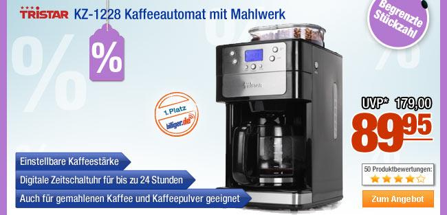 Tristar KZ-1228                                             Kaffeeautomat mit Mahlwerk