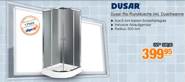 Dusar Rio Runddusche                                             inkl. Duschwanne