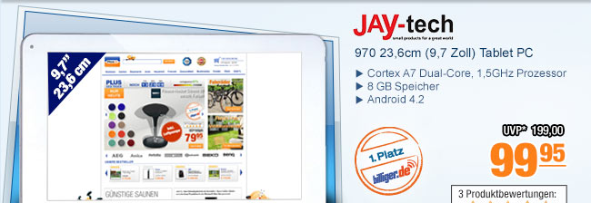 JAY-tech 970 23,6cm                                             (9,7 Zoll) Tablet PC