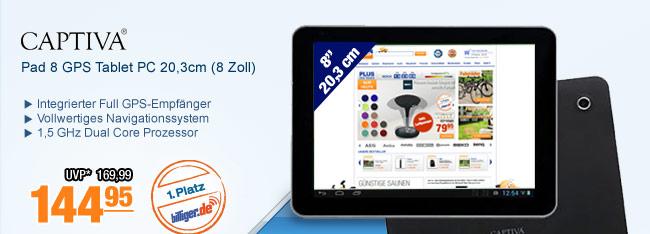 Captiva Pad 8 GPS                                             Tablet PC 20,3cm (8 Zoll)