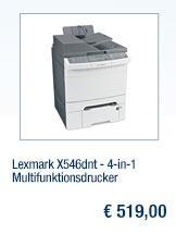 Lexmark X546dnt -                                             4-in-1 Multifunktionsdrucker