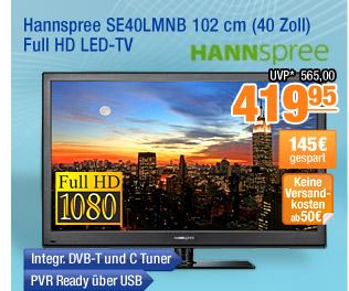 Hannspree SE40LMNB 102cm
