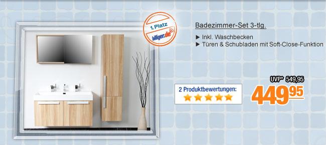 Badezimmer-Set 3-tlg.