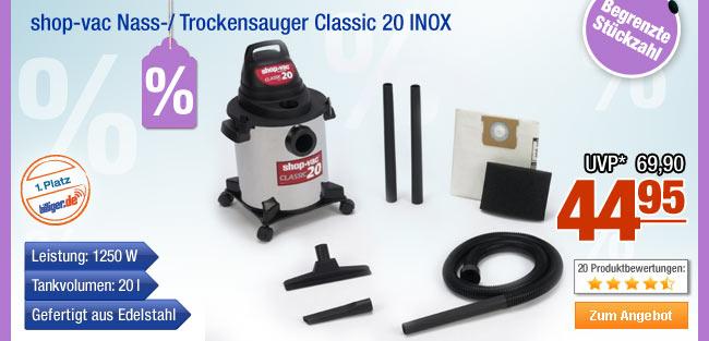 shop-vac Nass-/                                             Trockensauger Classic 20                                             INOX