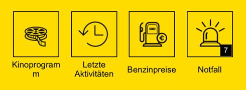 Menü Gelbe Seiten App