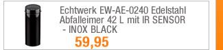 Echtwerk EW-AE-0240                                             Edelstahl Abfalleimer 42 L                                             mit IR SENSOR - INOX BLACK