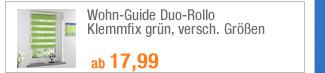 Wohn-Guide Duo-Rollo                                             Klemmfix grün, versch.                                             Größen