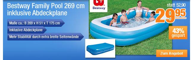 Bestway Family Pool 269                                             cm, inklusive Abdeckplane