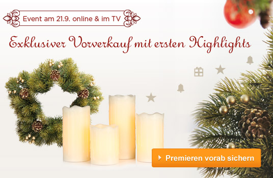 qvc angebote warum bis sonntag warten weihnachtsdeko jetzt im exklusiven vorverkauf in der. Black Bedroom Furniture Sets. Home Design Ideas