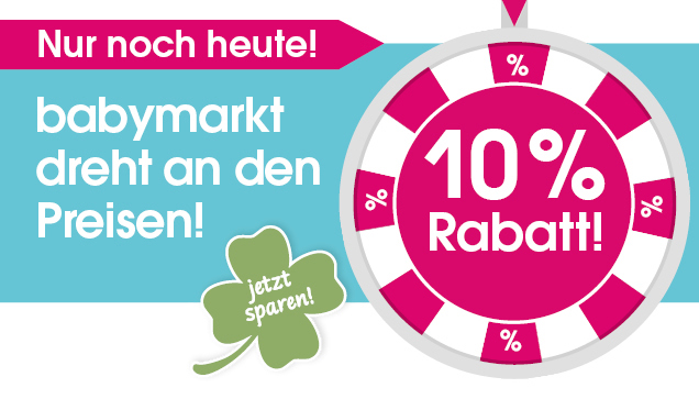 Nur noch heute: 10% sparen bei babymarkt.de