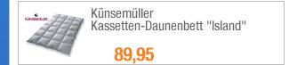 """Künsemüller                                             Kassetten-Daunenbett                                             """"Island"""""""