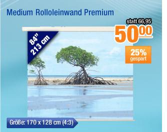 Medium Rolloleinwand                                             Premium