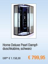 Home Deluxe Pearl                                             Dampfduschkabine, schwarz
