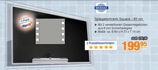 Spiegelschrank Square -                                             80 cm