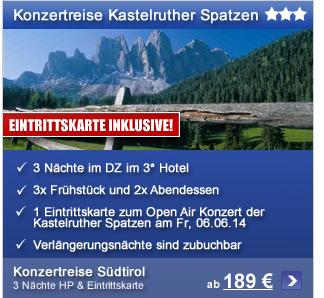 Konzertreise ab 189€