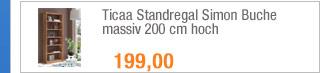 Ticaa Standregal Simon                                             Buche massiv 200 cm hoch