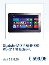 Gigabyte                                             GA-S1185-64SSD-W8-I2117U                                             Tablet-PC