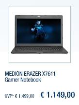 MEDION ERAZER X7611                                             Gamer Notebook