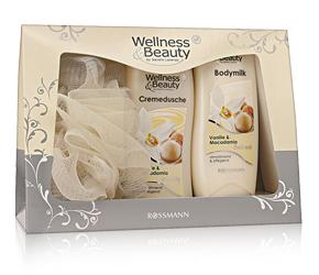 Wellness & Beauty Geschenkset Vanille & Macadamia