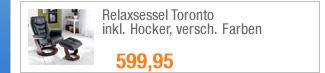 Relaxsessel Toronto                                             inkl. Hocker, versch.                                             Farben