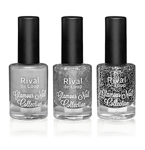 "Rival de Loop ""Glamour Nail Collection"" Nailpolish Silver"
