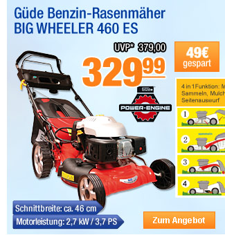 Güde Benzin-Rasenmäher                                           BIG WHEELER 460 ES