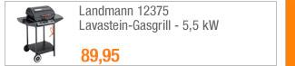 Landmann 12375                                             Lavastein-Gasgrill - 5,5 kW