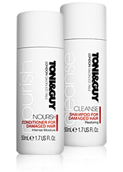 TONI&GUY CLEANSE & NOURISH DAMAGED HAIR MINIS