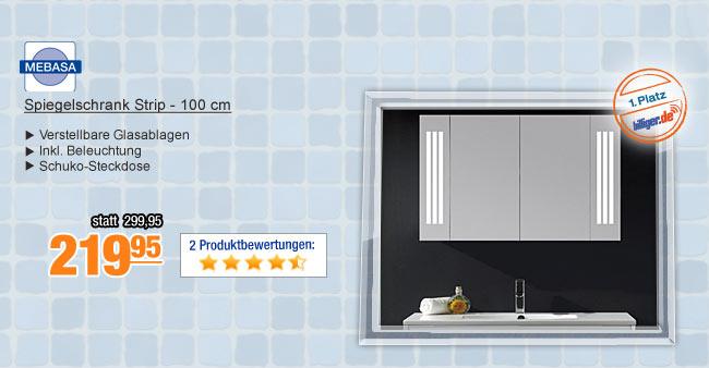 Spiegelschrank Strip -                                             100 cm