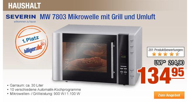 Severin MW 7803                                             Mikrowelle mit Grill und                                             Umluft
