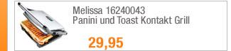 Melissa 16240043 Panini                                             und Toast Kontakt Grill