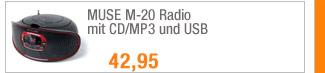 MUSE M-20 Radio mit                                             CD/MP3 und USB