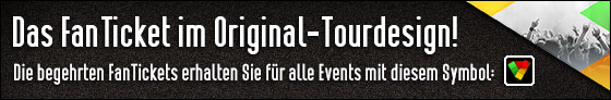 Das FanTicket im Original-Tourdesign