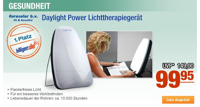 Eurosolar Daylight                                             Power Lichttherapiegerät