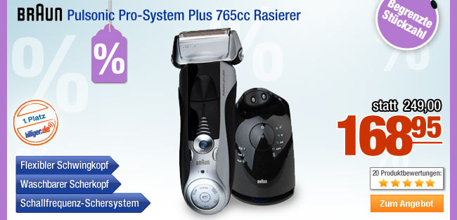Braun Pulsonic                                             Pro-System Plus 765cc                                             Rasierer