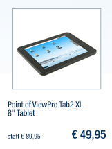 """Point of ViewPro Tab2                                             XL 8"""" Tablet"""