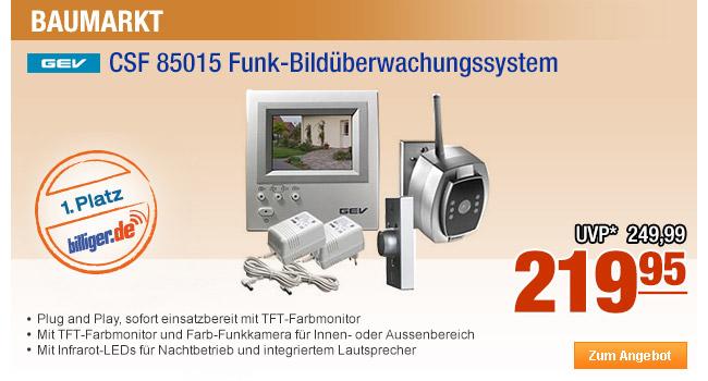 GEV CSF 85015                                             Funk-Bildüberwachungssystem
