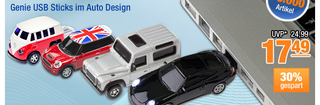 Genie USB Sticks im Auto