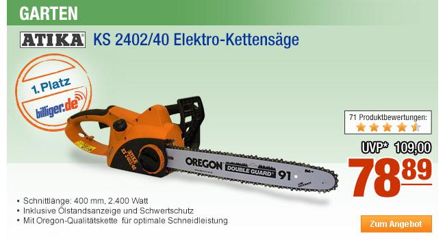Atika KS 2402/40                                             Elektro-Kettensäge