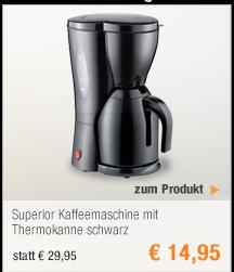 Superior                                             Kaffeemaschine mit                                             Thermokanne schwarz