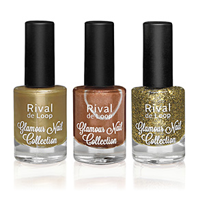 "Rival de Loop ""Glamour Nail Collection"" Nailpolish Gold"